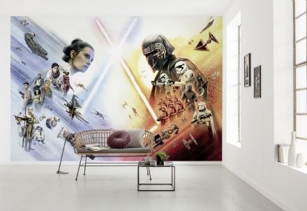Star Wars characters wallpaper mural